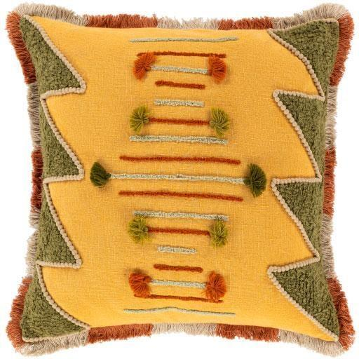 <p>Add a pop of colorful coziness to your couch with this <span>Saffron Fringe Pillow</span> ($79)</p>