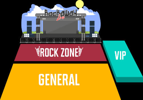 To be fair, VIP ticket holders also get to access the Rock Zone, which is closer to the stage.