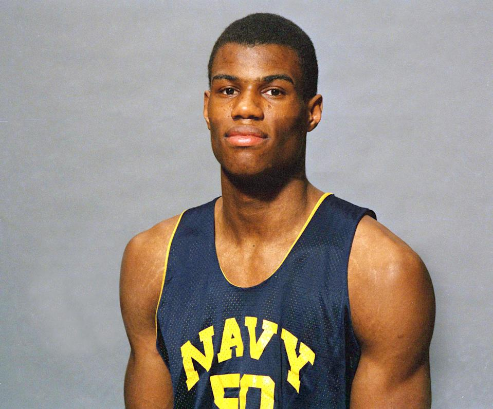 David Robinson, a 7-foot center out of Navy, was the No. 1 pick in the 1987 NBA draft. (AP)