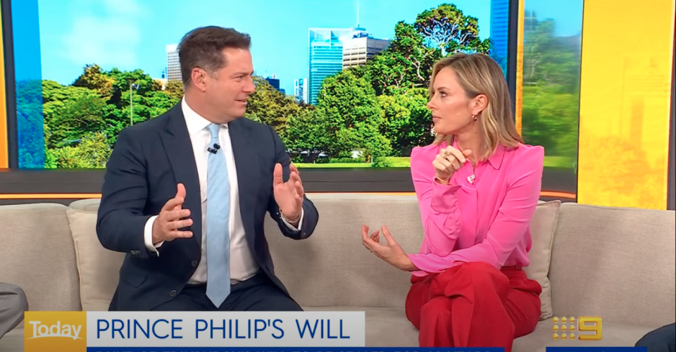 Allison Langdon and Karl Stefanovic on the Today Show