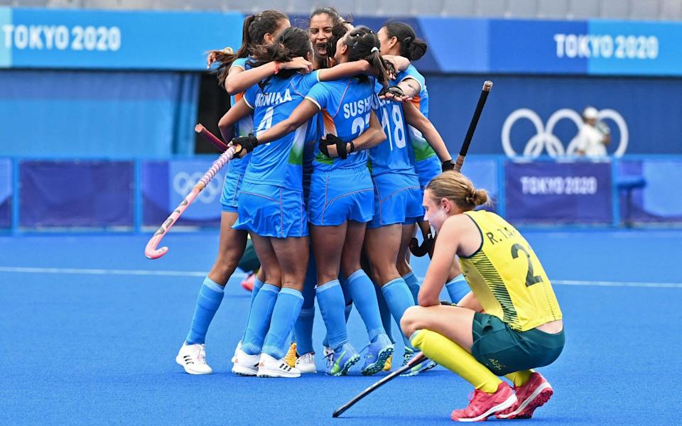 India shocked Australia on the way to this morning's bronze-medal match - AFP