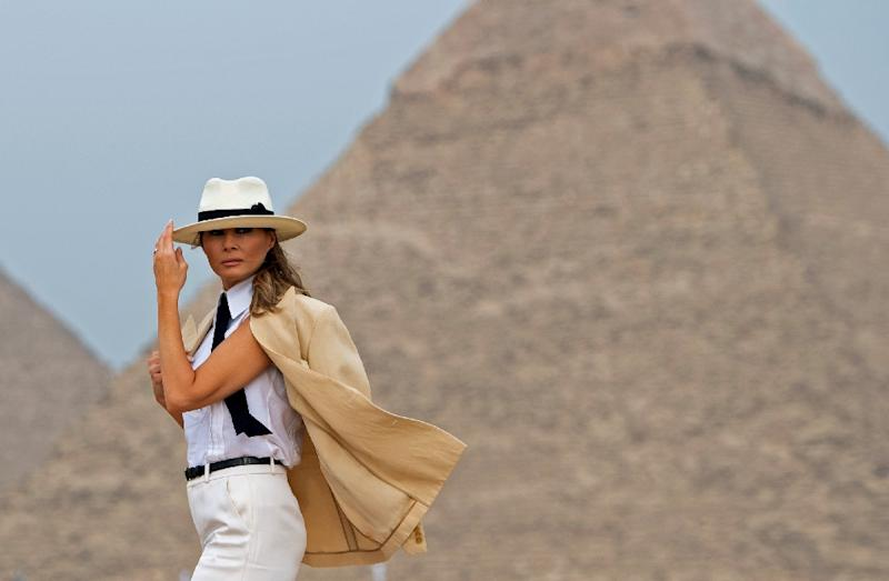 First lady visits Egypt on last stop in visit to Africa