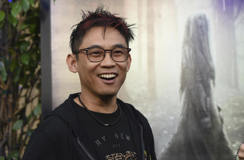 """Producer James Wan arrives at the premiere of """"The Curse of La Llorona"""" on Monday, April 15, 2019, at the Egyptian Theatre in Los Angeles. (Photo by Chris Pizzello/Invision/AP)"""