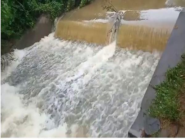 The Kondaiah Gari Vanka stream in the Chittoor district where the car was washed away. (Photo/ANI)