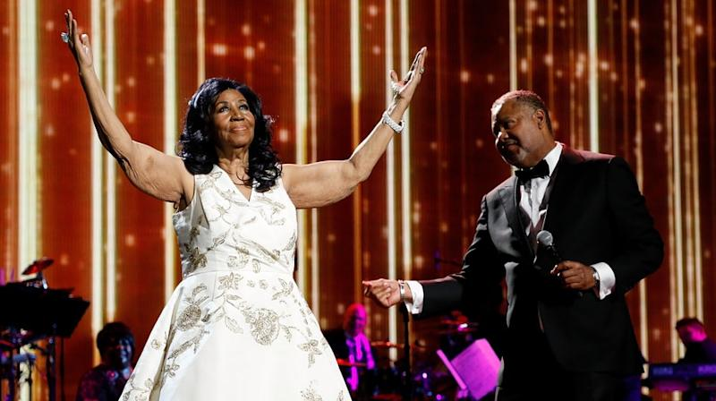 Watch Aretha Franklin Honor Clive Davis After Doc Premiere