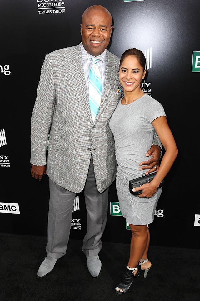 "Chi McBride and his wife, Julissa McBride, arrive at AMC's ""Breaking Bad"" special premiere event held at Sony Pictures Studios on July 24, 2013 in Culver City, California."