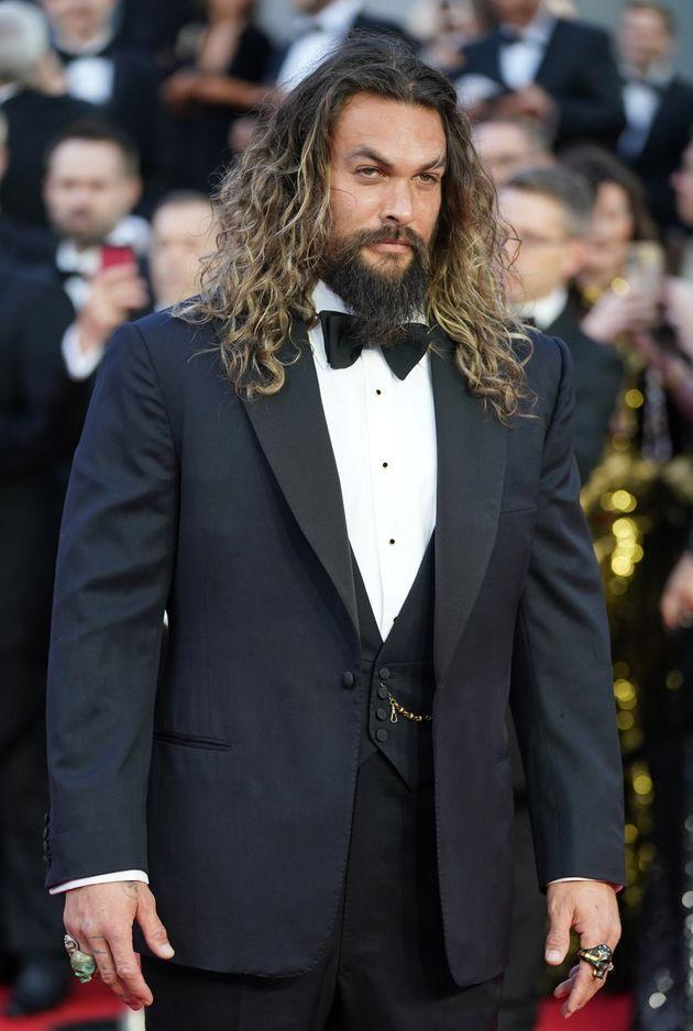 Jason Momoa lets his hair down for