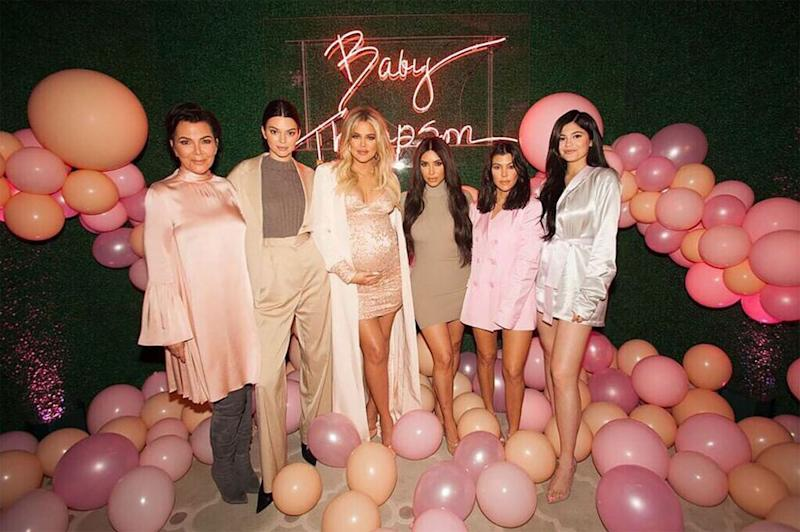 Kris Jenner with her daughters, including Khloé Kardashian