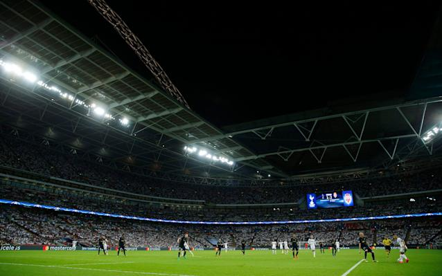<span>The pitch at Wembley is significantly bigger than at White Hart Lane</span> <span>Credit: Reuters </span>