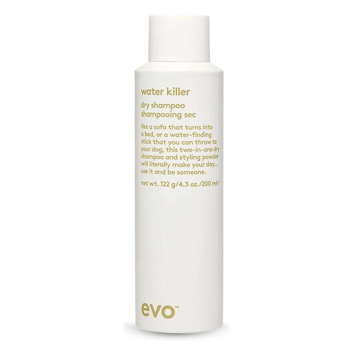 """This Evo Water Killer dry shampoo is made specifically for brunettes and can be used to disguise graying roots. Find it for $22 at <a href=""""https://fave.co/2UH7ABR"""" rel=""""nofollow noopener"""" target=""""_blank"""" data-ylk=""""slk:Skinstore"""" class=""""link rapid-noclick-resp"""">Skinstore</a>."""
