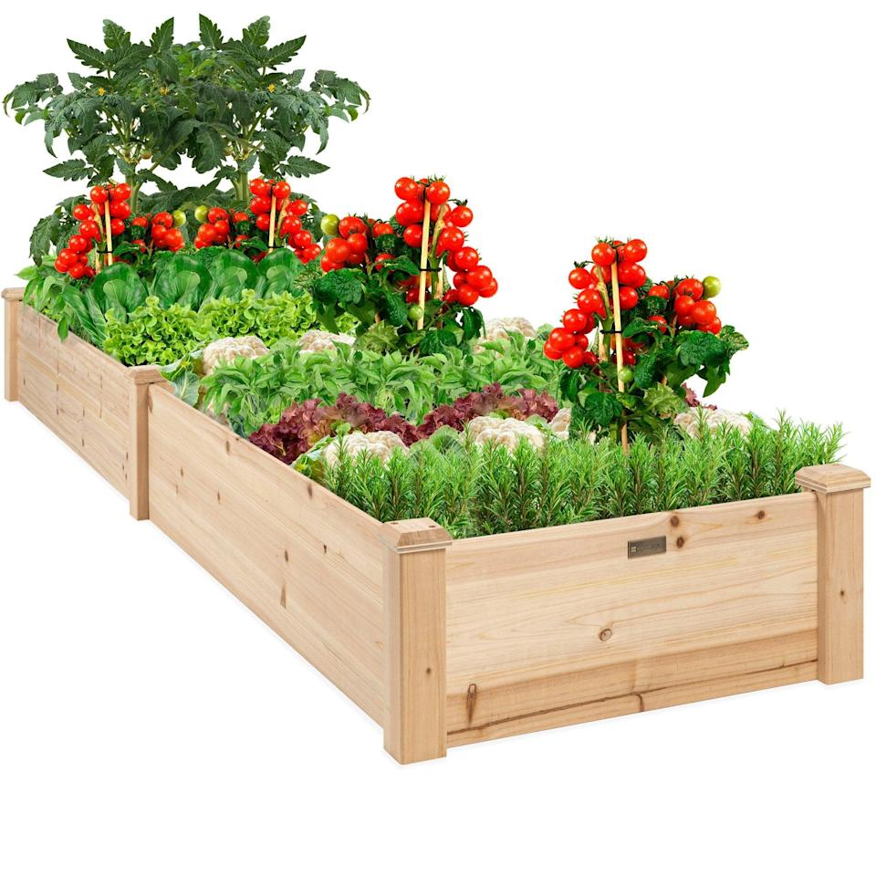 <p>Start your gardening adventures with the <span>Best Choice Products 8x2ft Outdoor Wooden Raised Garden Bed Planter</span> ($93, originally, $120).</p>