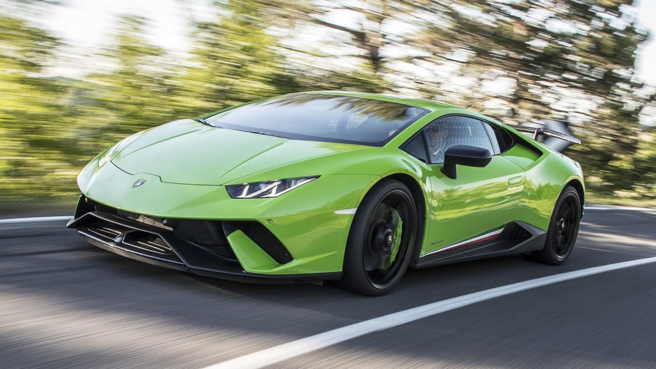 """<h3>0-62 mph - 2.9 seconds</h3> <p>With a5.2-litre V10 pumping out 630 bhp, the <a href=""""https://uk.motor1.com/lamborghini/huracan-performante/"""">Lamborghini Huracan Performante</a> can hit 100 kilometres per hour in 2.9 seconds and eventually reach a top speed of202 mph. At a price of £173,271, the Lambo still carries a significant cost premium over the £138,826 Taycan Turbo S.</p> <h2>See its performance:</h2><br><a href=""""https://uk.motor1.com/news/367110/huracan-vs-911-turbo-drag/"""">Huracan Performante drag races 911 Turbo S, Volkswagen wins</a><br>"""
