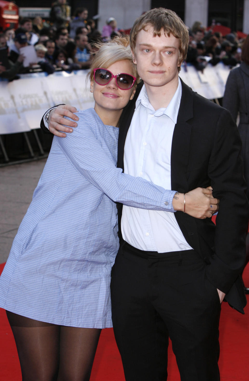 Lily and Alfie Allen arriving at the World Premiere of Flashbacks of a Fool, Empire Cinema, Leicester Square, London.