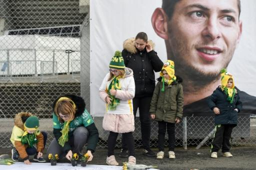 Supporters lay flowers outside Nantes' stadium in memory of Argentine forward Emiliano Sala