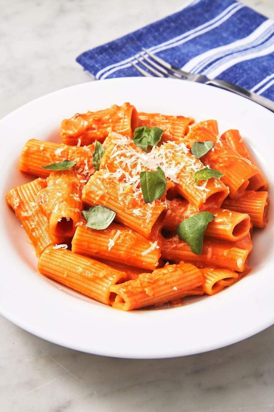 """<p>It's surprisingly easy to whip up the addictive Italian staple in your own kitchen.</p><p>Get the recipe from <a href=""""https://www.delish.com/cooking/recipe-ideas/a26556220/penne-alla-vodka-recipe/"""" rel=""""nofollow noopener"""" target=""""_blank"""" data-ylk=""""slk:Delish"""" class=""""link rapid-noclick-resp"""">Delish</a>.</p>"""