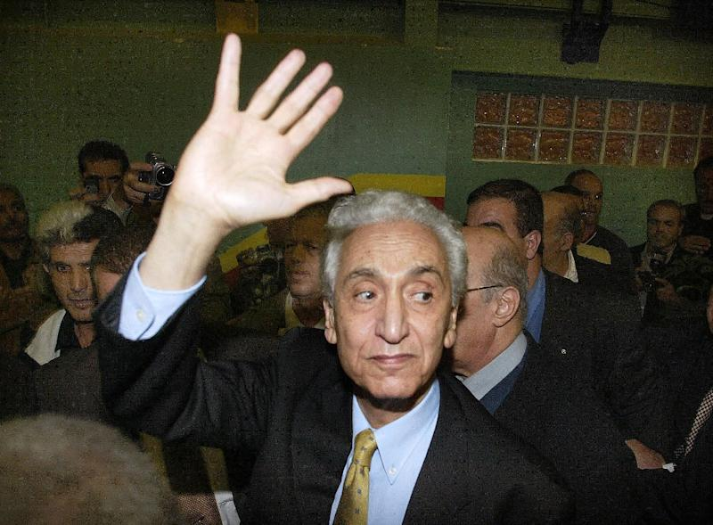"""Hocine Ait Ahmed, pictured October 31, 2004, was the last of the nine so-called """"sons of Toussaint"""", who launched the Algerian uprising in November 1954"""