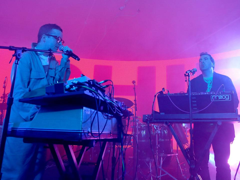 Hot Chip on stage in 2015 (Getty Images for Samsung)