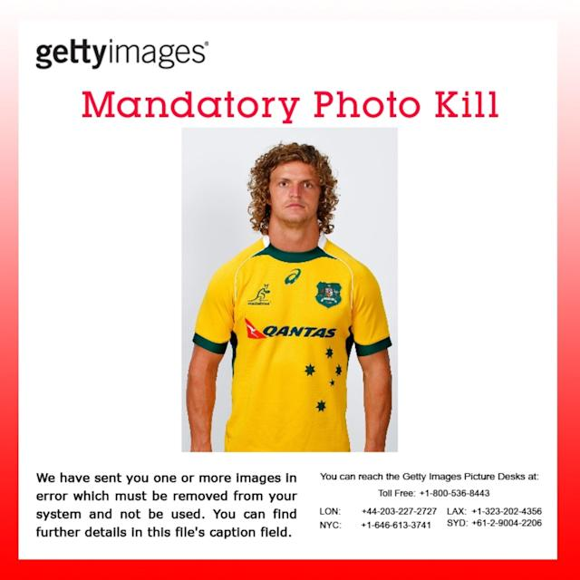 PHOTO KILL: Images 465968627, 465968621, 465968615, 465968613, 465968611 were sent to you in error and are under embargo. Please remove from your system immediately. We apologize for any inconvenience. PERTH, AUSTRALIA - JANUARY 30: Nick Cummins poses during a Western Force Super Rugby headshots session at nib Stadium on January 30, 2014 in Perth, Australia. (Photo by Will Russell/Getty Images)