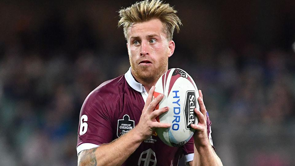 Cameron Munster is seen here playing for the Maroons in State of Origin.