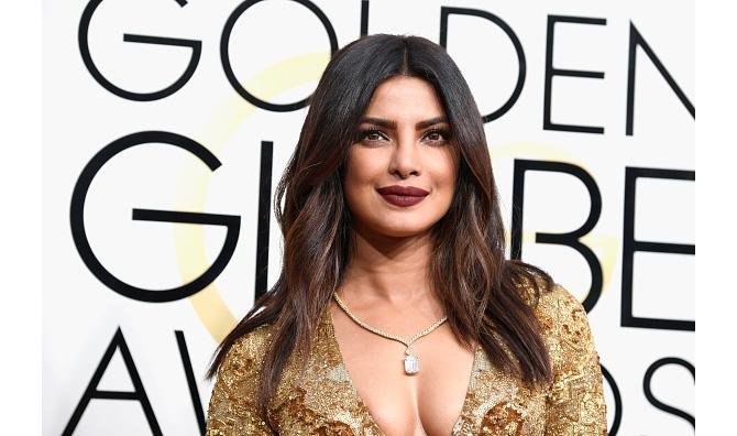 Priyanka Chopra in a Lorraine Schwartz diamond necklace at the 2017 Golden Globes. Photo: Frazer Harrison/Getty Images