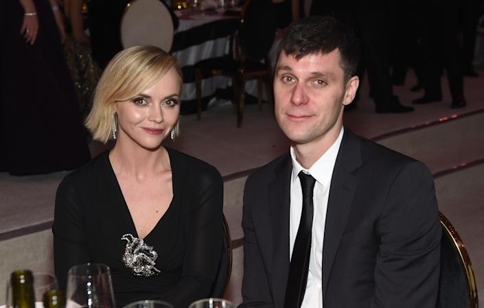 WEST HOLLYWOOD, CA - FEBRUARY 24: (L-R) Christina Ricci and James Heerdegen attend the 27th annual Elton John AIDS Foundation Academy Awards Viewing Party sponsored by IMDb and Neuro Drinks celebrating EJAF and the 91st Academy Awards on February 24, 2019 in West Hollywood, California.  (Photo by Jamie McCarthy/Getty Images for EJAF)
