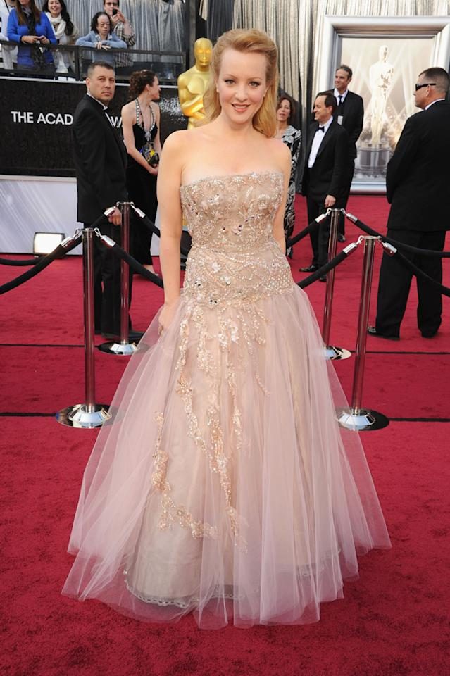 Wendi McLendon-Covey arrives at the 84th Annual Academy Awards held at the Hollywood & Highland Center on February 26, 2012 in Hollywood, California.