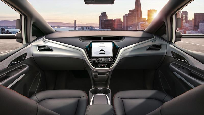 GM released images of the Cruise AV and video of the interior with a strikingly spacious windshield devoid of a steering wheel.
