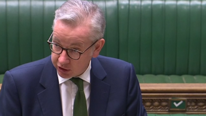 Michael Gove made his statement to the Commons on Monday