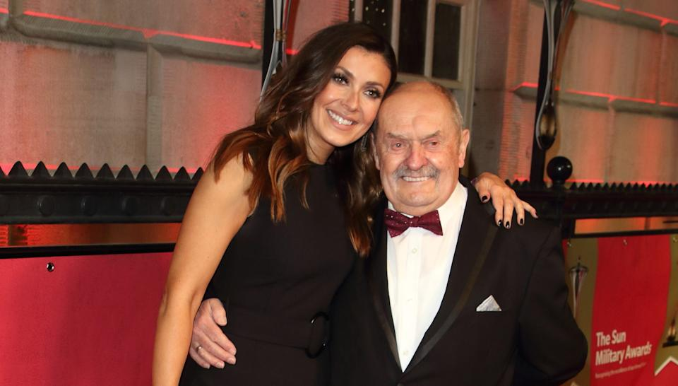 Kym Marsh's father David Marsh is determined to walk her down the aisle despite his terminal cancer diagnosis. (PA)