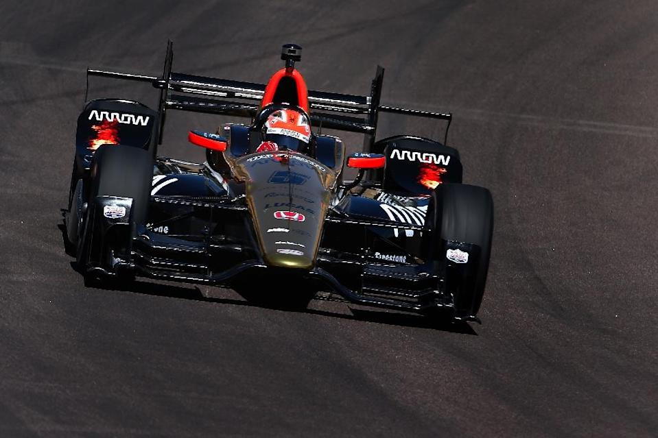 James Hinchcliffe of Canada, says he never doubted he would return to racing and one year later, he finds himself the man to beat with the first pole of his IndyCar career (AFP Photo/Christian Petersen)