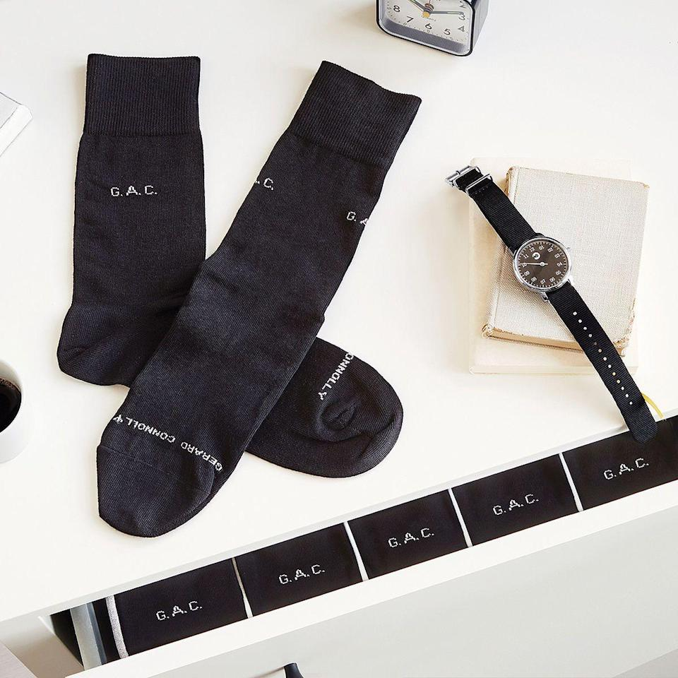 "<p>uncommongoods.com</p><p><a href=""https://go.redirectingat.com?id=74968X1596630&url=https%3A%2F%2Fwww.uncommongoods.com%2Fproduct%2Fpersonalized-socks-set-of-5-pairs&sref=https%3A%2F%2Fwww.housebeautiful.com%2Fentertaining%2Fholidays-celebrations%2Fg27155066%2Fbest-fathers-day-gifts-from-daughters%2F"" rel=""nofollow noopener"" target=""_blank"" data-ylk=""slk:BUY NOW"" class=""link rapid-noclick-resp"">BUY NOW</a></p><p>Customize this set of socks with Dad's initials or let him know he's the best with classic Father's Day phrase like, ""World's Best Dad""or ""#1 Dad."" </p>"