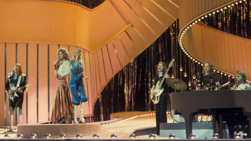 Abba performing Waterloo at the Eurovision Song Contest in 1974