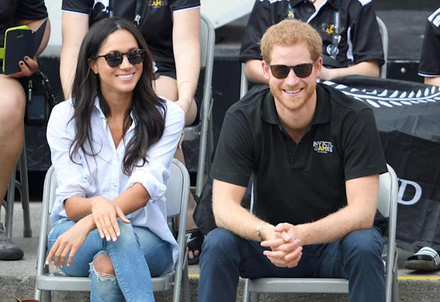 Prince Harry and Meghan Markle were first photographed together at the Invictus Games on September 25. (Photo: Getty)