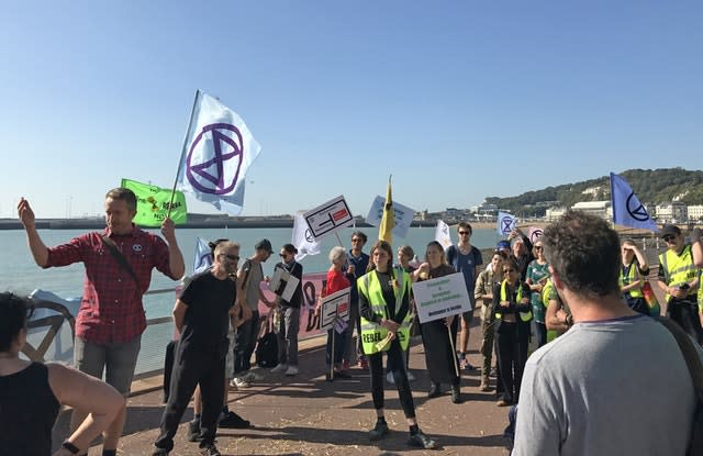 Extinction Rebellion protest at Dover