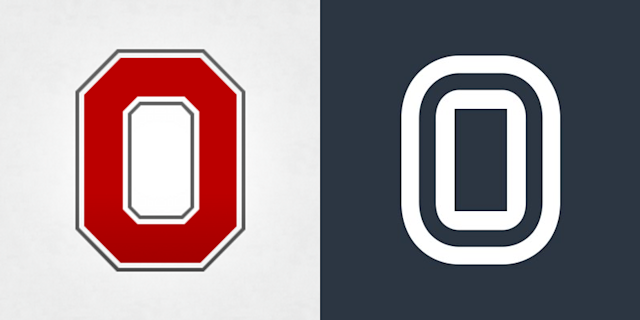 """Is Overtime's logo too similar to Ohio State's block """"O"""" to trademark? You be the judge."""