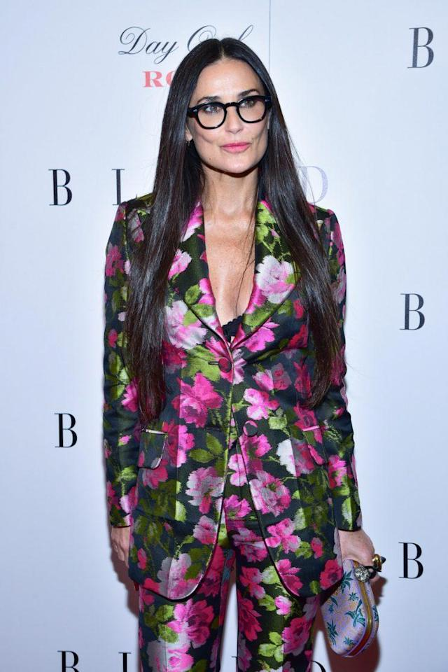 """Demi Moore at the premiere of her latest film, """"Blind,"""" on Monday, Jun. 26 in New York City. (Photo: Getty Images)"""