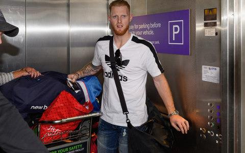 Ben Stokes arrives in New Zealand with his bags - Credit: Getty Images
