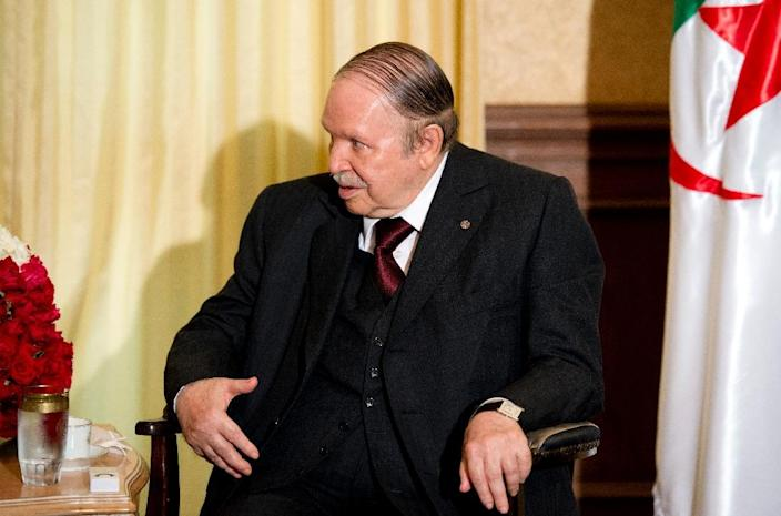 Algerian President Abdelaziz Bouteflika, seen on June 15, 2015, in Algiers, has ruled the oil-rich North African state since 1999 (AFP Photo/Alain Jocard)