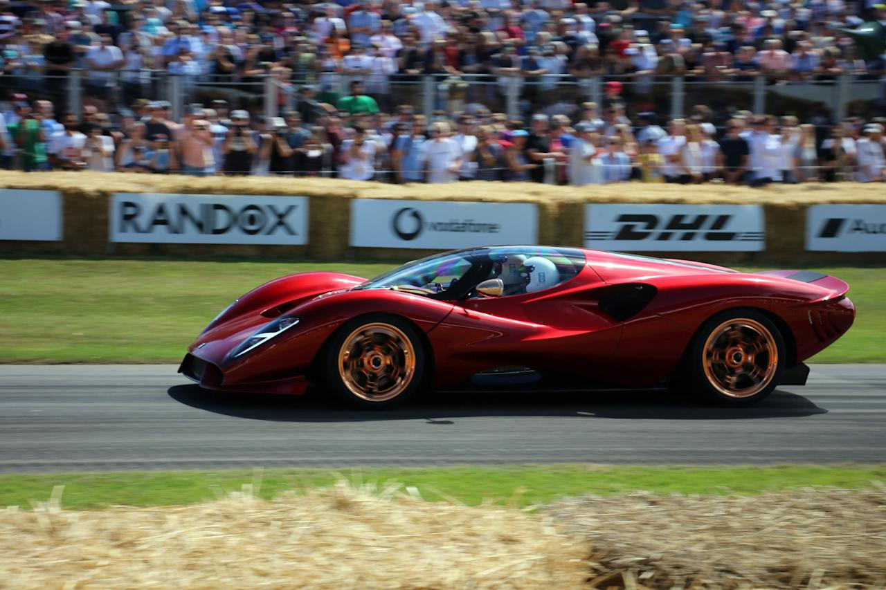 """<p>The <a href=""""https://www.roadandtrack.com/car-shows/goodwood-festival-of-speed/a28278417/de-tomaso-p72-new-supercar-manual-transmission/"""" target=""""_blank"""">De Tomaso P72</a> is a limited edition revival of the historic performance brand, coming from the same people who created the outrageous V-12-powered Apollo IE. The P72 also earned the approval of Peter Brock, designer of the original De Tomaso-Shelby P70. Here's your first up-close look.</p>"""