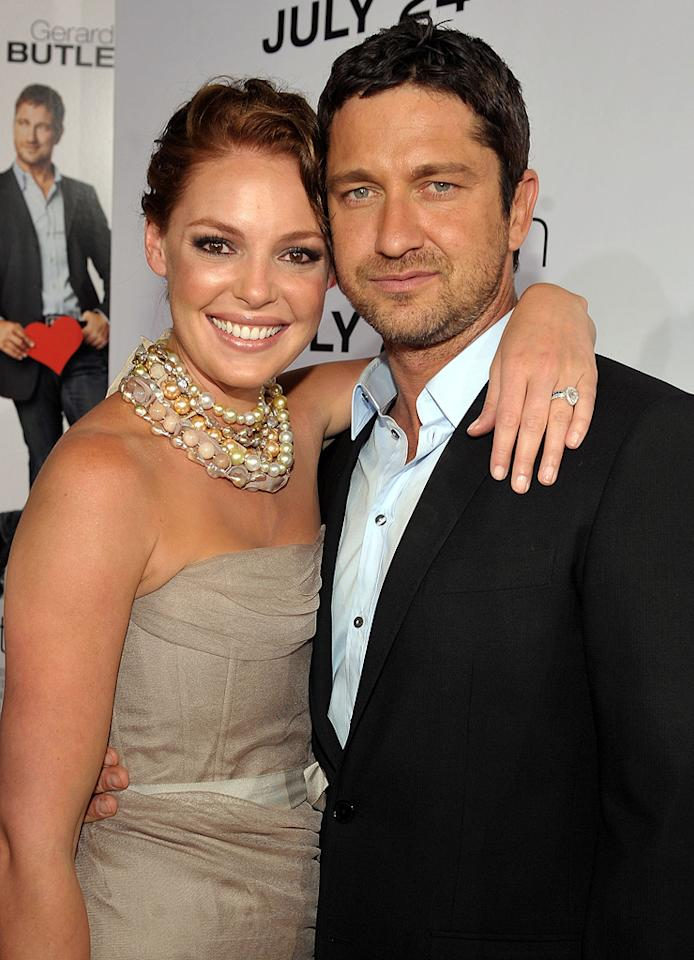 """<a href=""""http://movies.yahoo.com/movie/contributor/1800018759"""">Katherine Heigl</a> and <a href=""""http://movies.yahoo.com/movie/contributor/1803248911"""">Gerard Butler</a> at the Los Angeles premiere of <a href=""""http://movies.yahoo.com/movie/1810021980/info"""">The Ugly Truth</a> - 07/16/2009"""