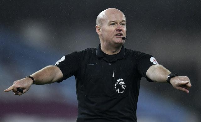 Lee Mason took charge of the match at Turf Moor