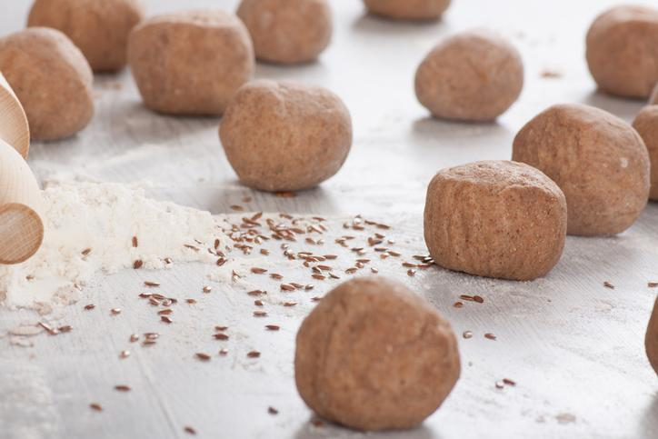 <p>Did you offer to bring dessert to the potluck then accidentally left it to the last minute? Fret not, these gingerbread cookie dough bites are so good your fellow party attendees will never know — and better yet, they're a lighter option than traditional cheesecake bites. The gingerbread flavour and use of applesauce as a sweetener will have potluck guests feeling festive in no time. </p>