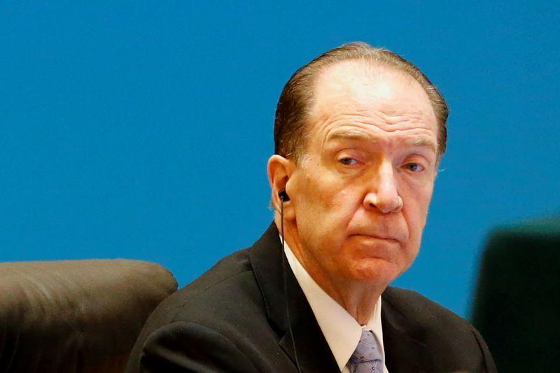 """FILE PHOTO: World Bank President David Malpass attends the """"1+6"""" Roundtable meeting at the Diaoyutai state guesthouse in Beijing"""