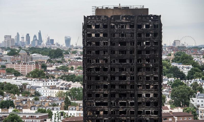 Grenfell Tower in west London, where about 80 people died in a fire in August.