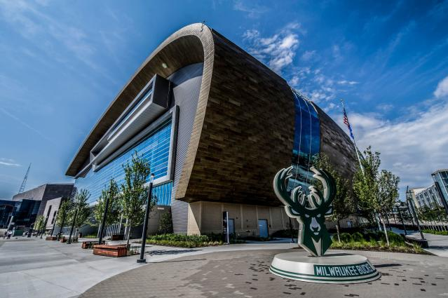 The Fiserv Forum is the NBA's most advanced arena. (Kenny Yoo/Milwaukee Bucks)