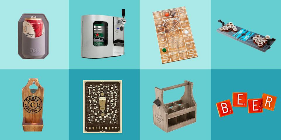 "<p>You know that friend who's always bringing a 6-pack to parties? Or your dad who won't watch a game without a cold one in his hand? This season, celebrate them with a present they'll <em>actually</em> love. These gift ideas are thoughtful, unique, and cooler than anything else they've ever gotten. (Spoiler alert: We're talking shower beer holders and cap collecting shadow boxes.)</p><p>Don't forget to check out these gifts for <a href=""https://www.delish.com/holiday-recipes/g2582/wine-gifts/"" rel=""nofollow noopener"" target=""_blank"" data-ylk=""slk:wine lovers"" class=""link rapid-noclick-resp"">wine lovers</a> and <a href=""https://www.delish.com/holiday-recipes/christmas/g3132/gift-coffee-obsessed/"" rel=""nofollow noopener"" target=""_blank"" data-ylk=""slk:coffee fans"" class=""link rapid-noclick-resp"">coffee fans</a>, too!</p>"