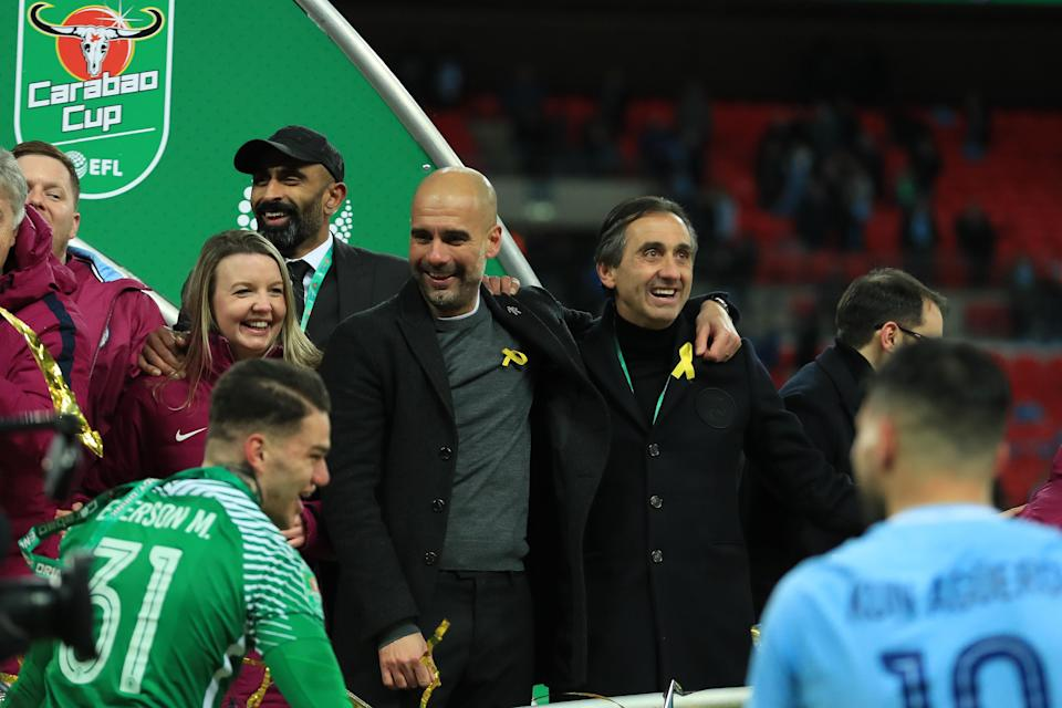 Pep Guardiola wore a yellow ribbon for the Carabao Cup final despite being warned not to.