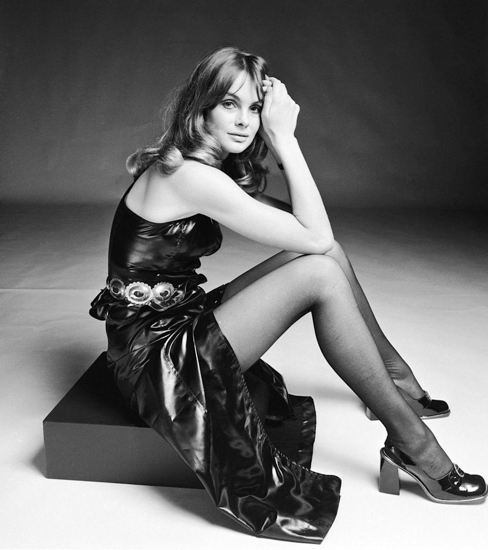 "<p>English model and actress Jean Shrimpton wore these black shoes with pantyhose and a matching patent-leather dress. Chanel <a href=""http://www.elle.com/fashion/accessories/how-to/a30544/making-of-the-chanel-shoe/"" rel=""nofollow noopener"" target=""_blank"" data-ylk=""slk:relaunched its classic slingbacks in 2015"" class=""link rapid-noclick-resp"">relaunched its classic slingbacks in 2015</a> and the style remains popular.</p>"