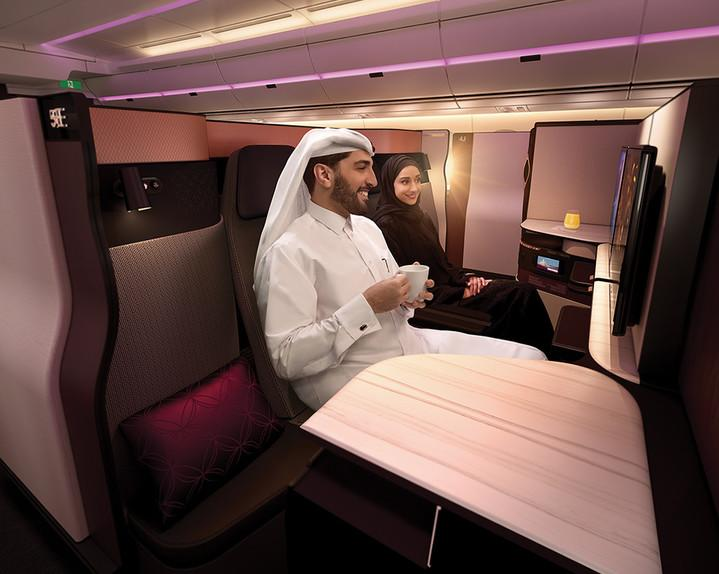 Not cheap: A return trip from London to Doha would set you back around £3,800 (Qatar Airways)