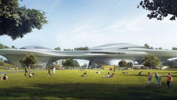 Concept art for Lucas Museum of Narrative Art (Courtesy of Lucas Museum)